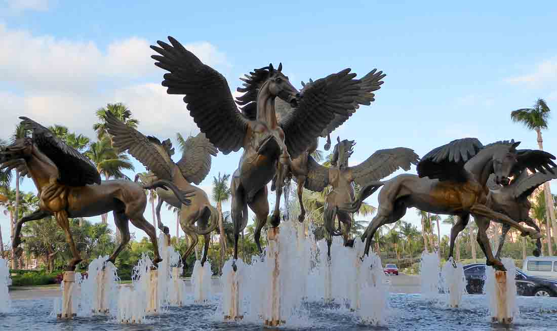 Pegasus fountain at Atlantis on Paradise Island, Bahamas