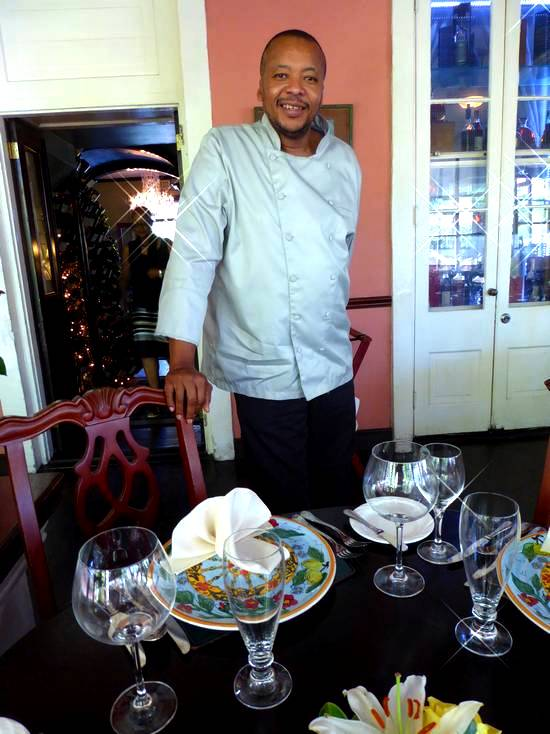 Executive chef Elijah Bowe of Graycliff in Nassau, Bahamas