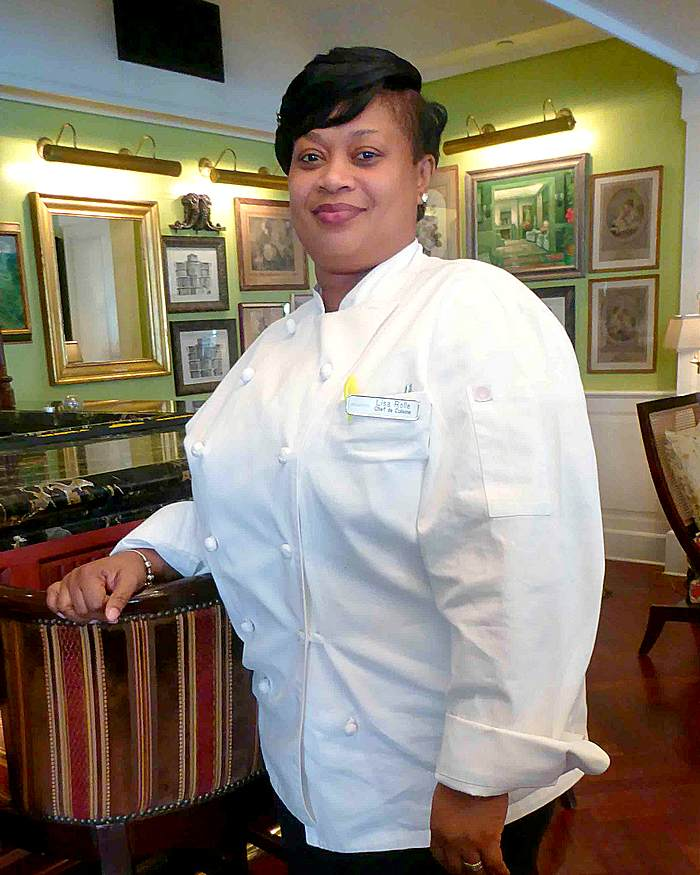 Chef de cuisine Lisa Rolle of Café Martinique at Atlantis