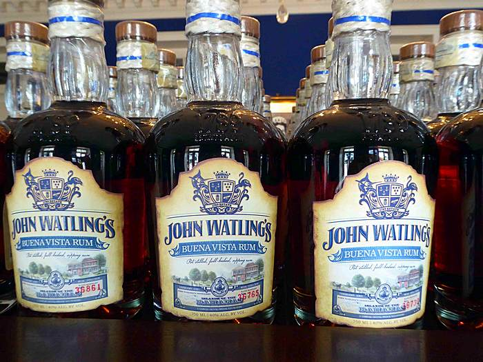 rum at John Watling's Distillery in Nassau, Bahamas