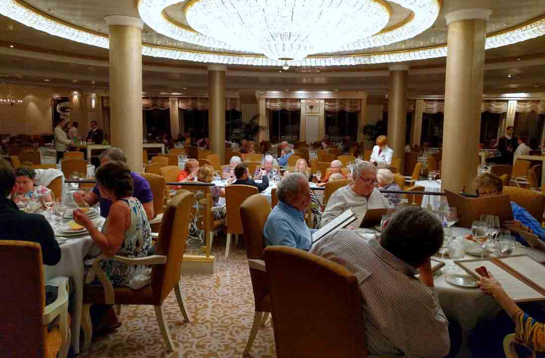 Grand dining room on Oceania's Marina