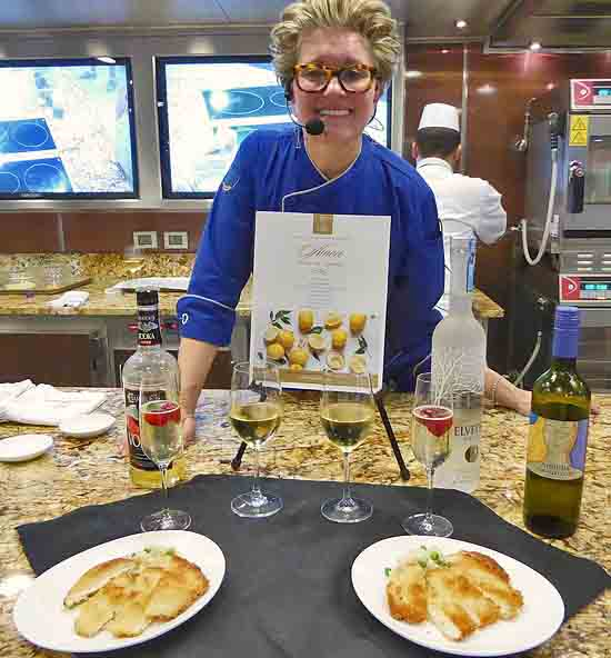 Kathryn Kelly leads Oceania cooking class