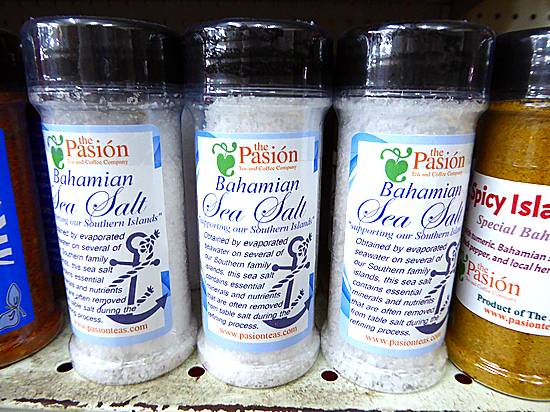 Bahamian sea salt in Nassau