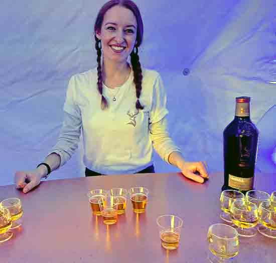 Riane Justin with ale-cask aged Glenfiddich