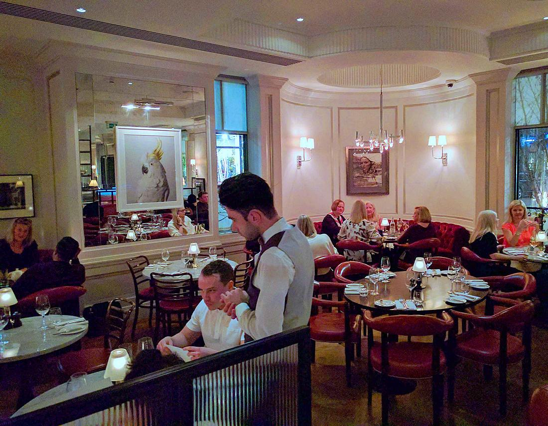 dining room of 108 Brasserie at the Marylebone