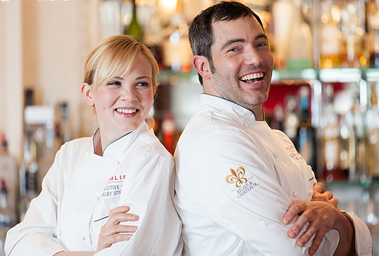 Shelby Stevens and Chris Long, co-chefs of Natalie's at the Camden Harbour Inn