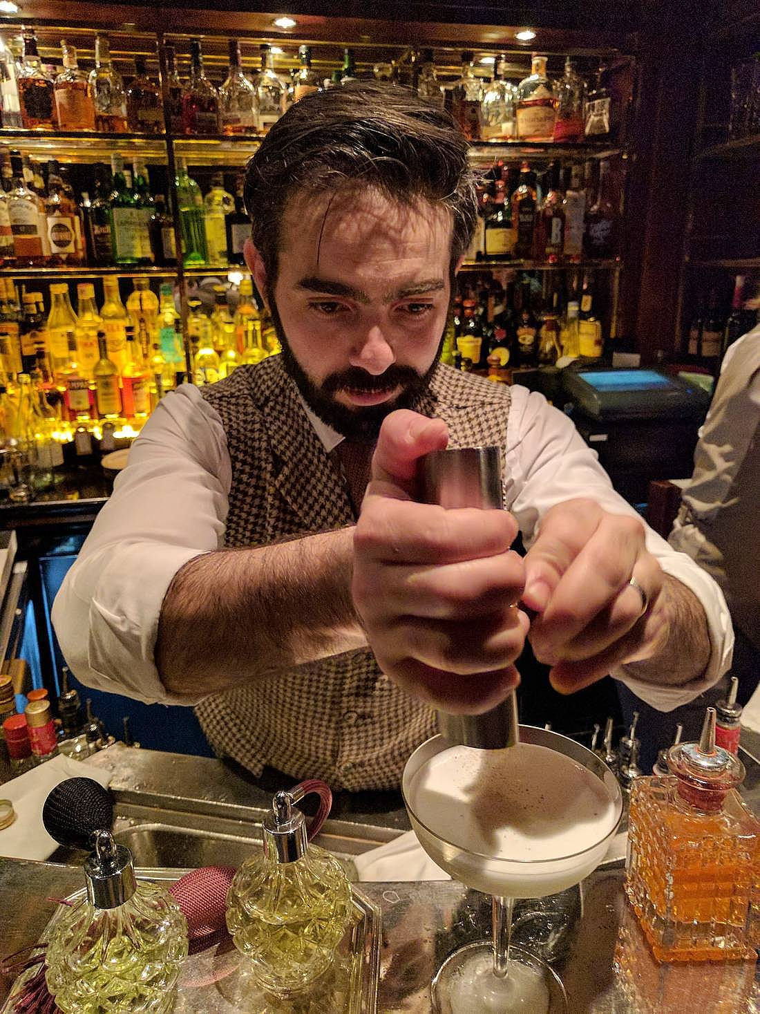Mixologist Brian Calleja of the Bloomsbury Club Bar at the Bloomsbury, a Doyle property in London