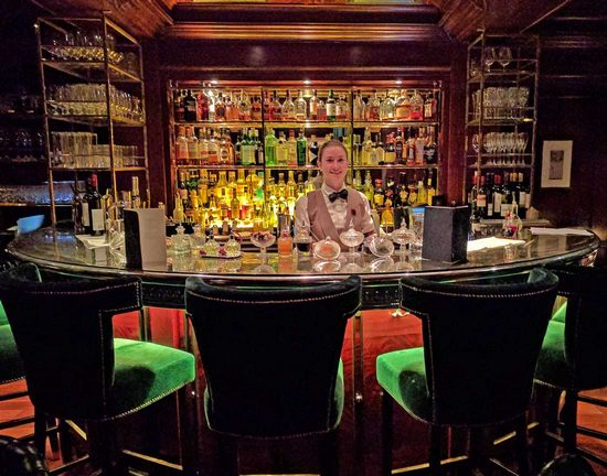 The Bloomsbury Club Bar in a Doyle hotel in London