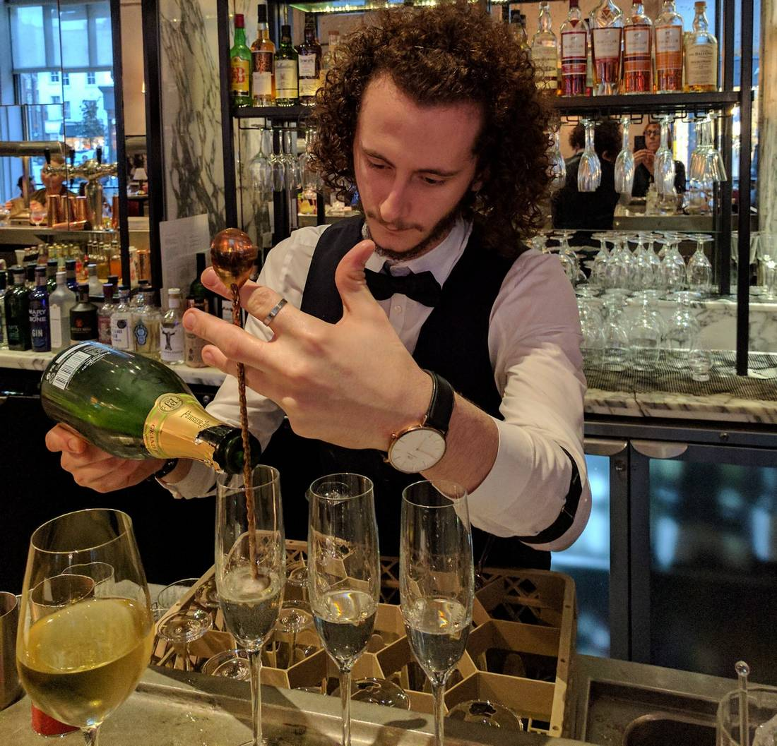 Mixologist Engji Shana at the 108 Bar in The Marylebone, a Doyle hotel in London