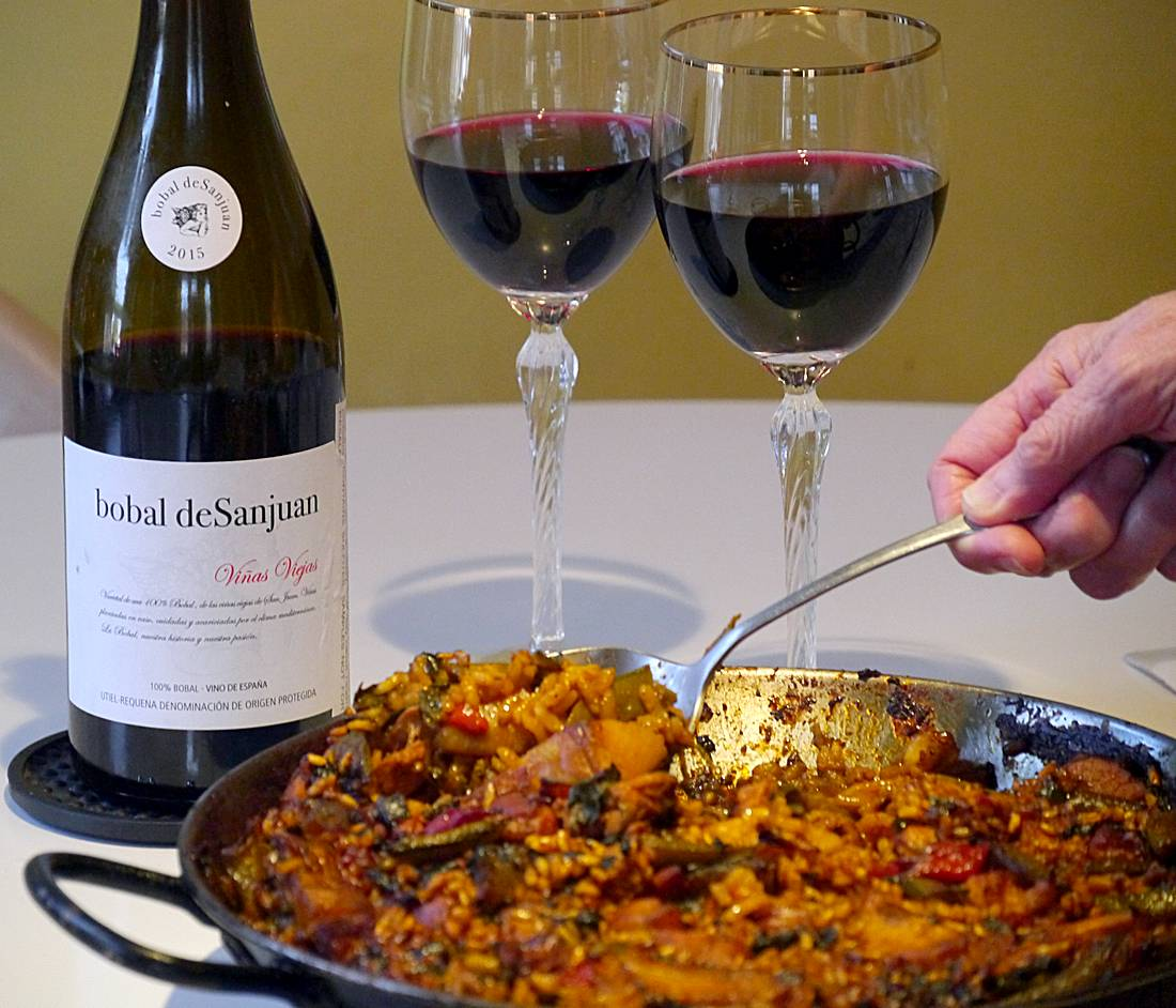 Bobal de SanJuan with pork paella