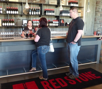 Redstone tasting bar in Niagara, owned by Moray Tawse