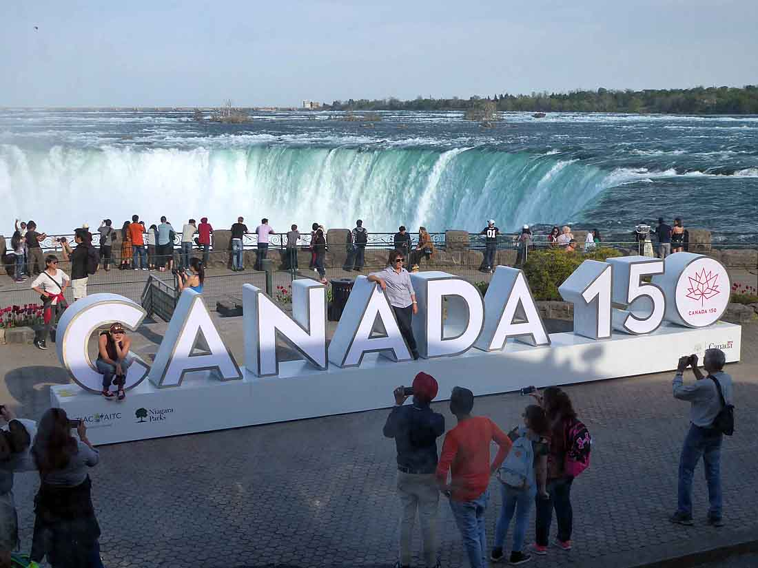 Canada 150 at Horseshoe Falls in Niagara Falls, ON