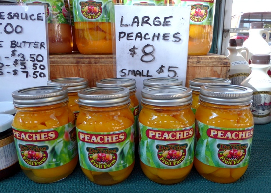 Niagara peaches at St. Catharines Farmers Market