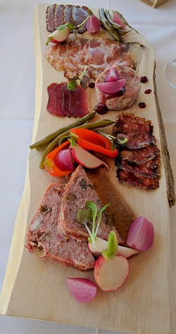 charcuterie at Vineland restaurant in Niagara