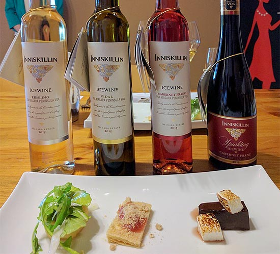 icewine and food pairing at Inniskillin in Niagara