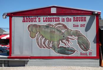 Abbott's Lobster in the Rough sign