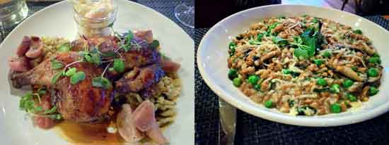entrees at Ravine Vineyard restaurant