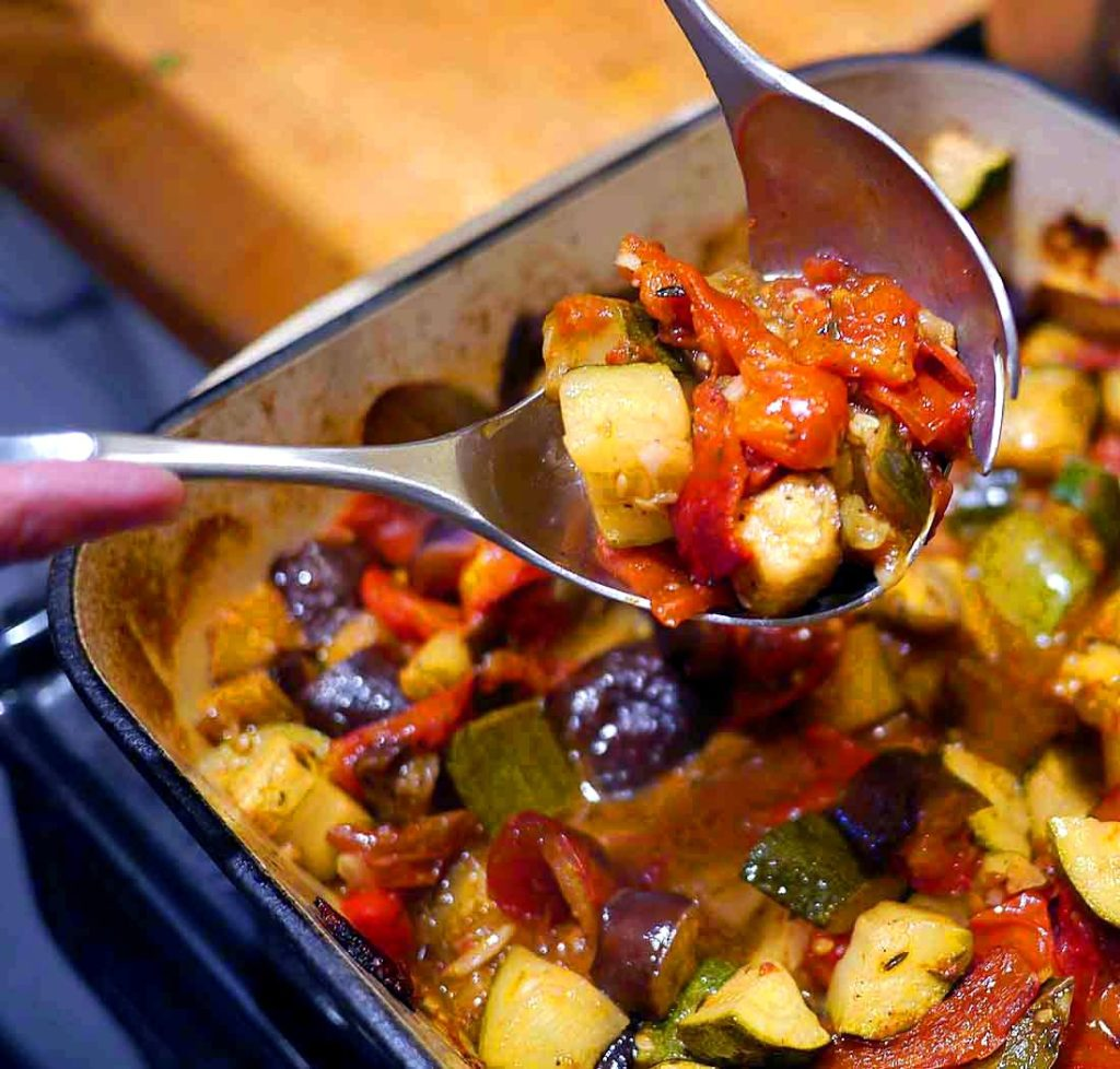 Summer love: Chinon and ratatouille