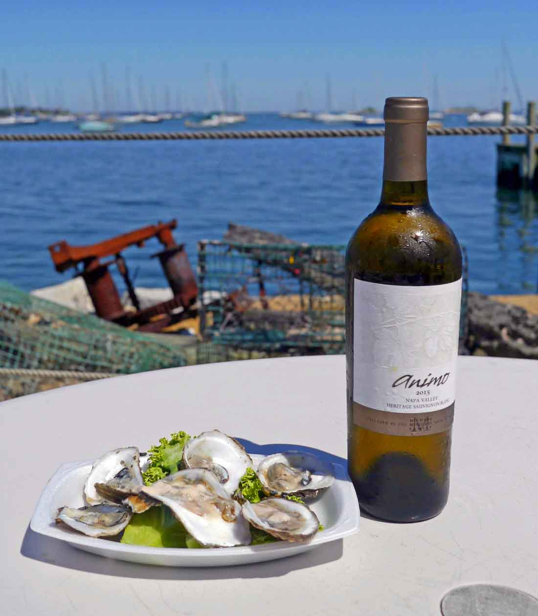 Heritage Sauvignon Blanc with Connecticut bluepoint oysters