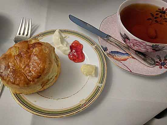 scone at tea in Prince of Wales Hotel