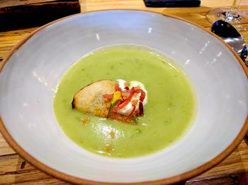 wild leek and potato soup from Backhouse