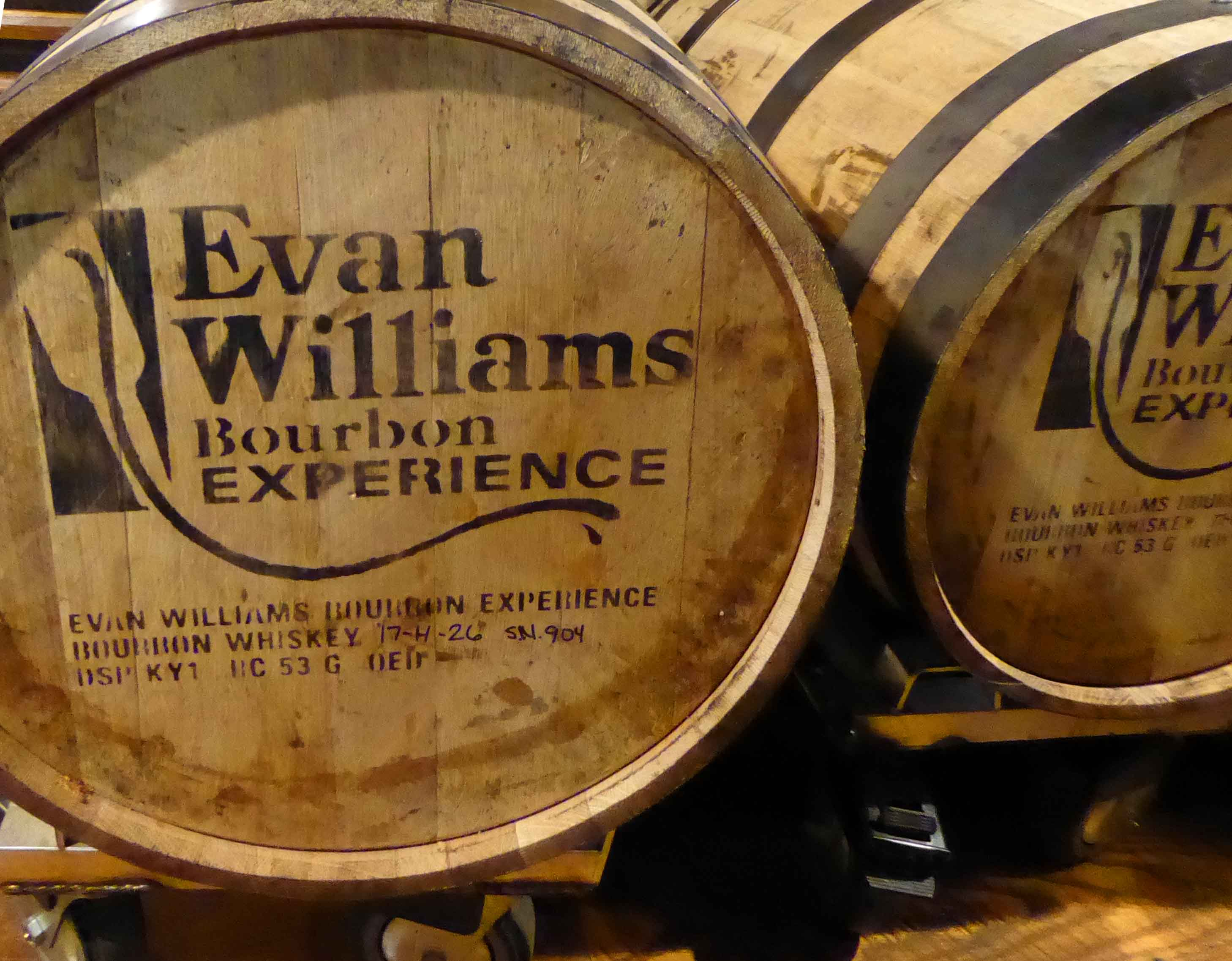 Evan Williams bourbon barrels