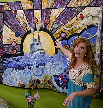 Dawn Spyker of Jeffersonville with art quilt project