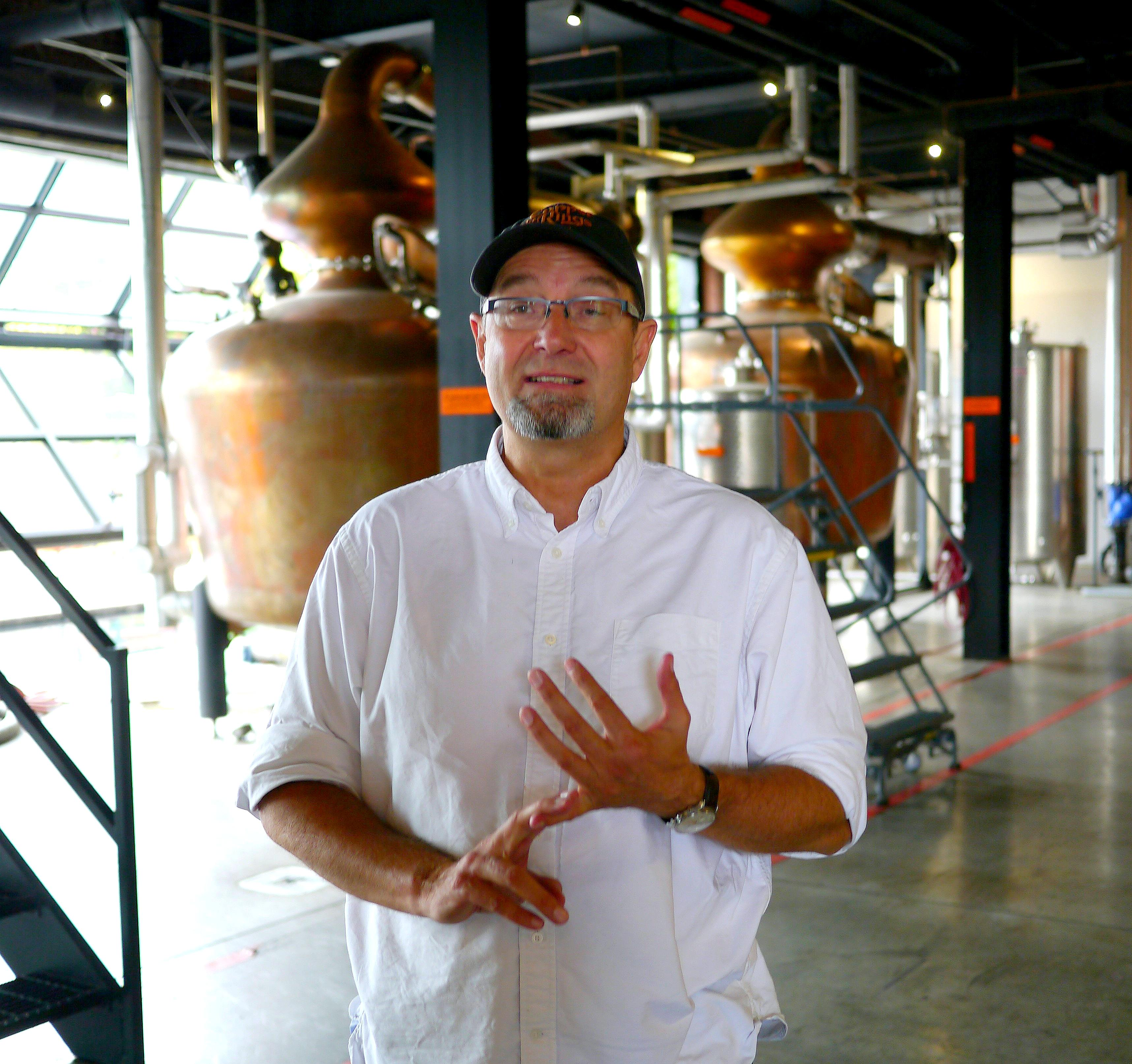 distiller Joe Heron of Copper & Kings