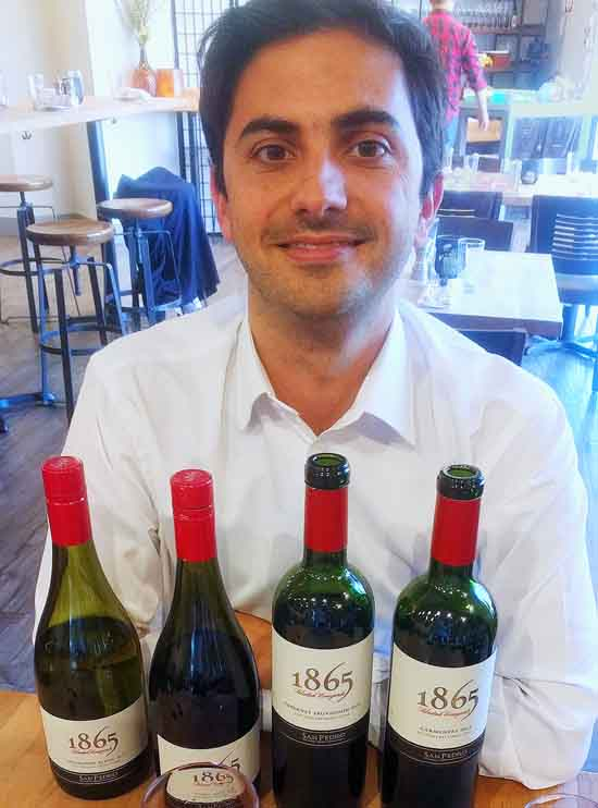 Matias Cruzat of 1865 wines