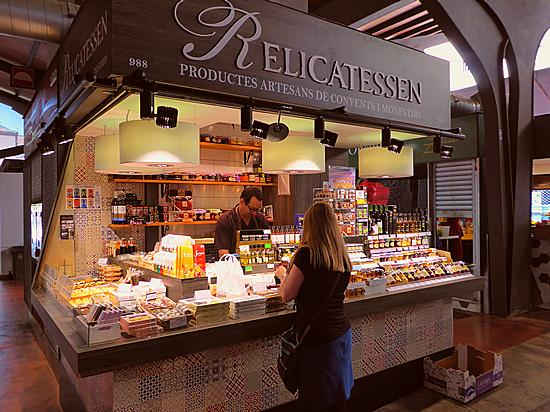 Relicatessen stall at La Boqueria in Barcelona