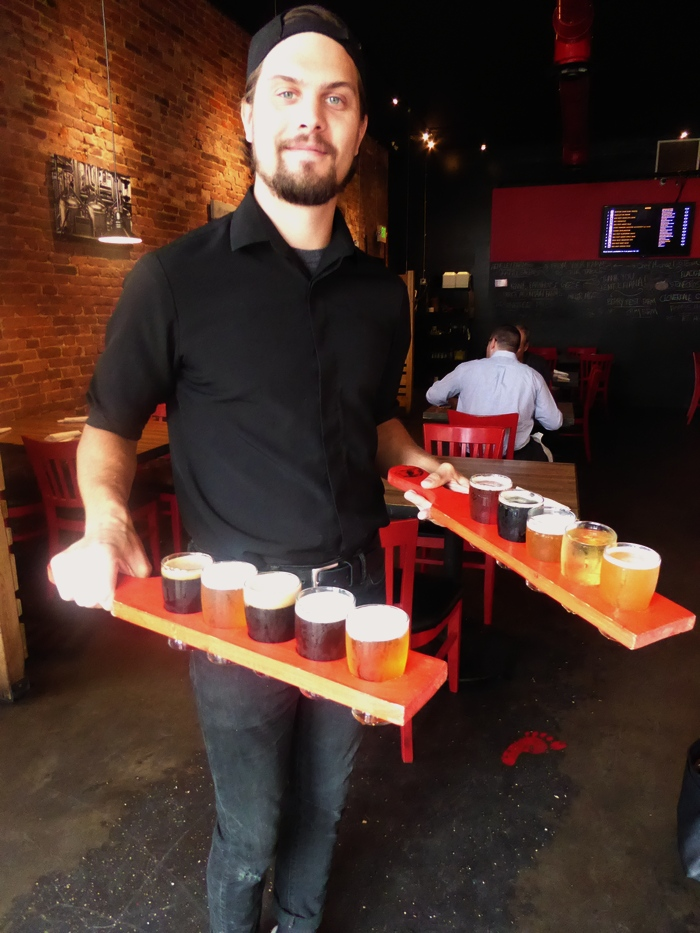 Beer flight at Red Yeti