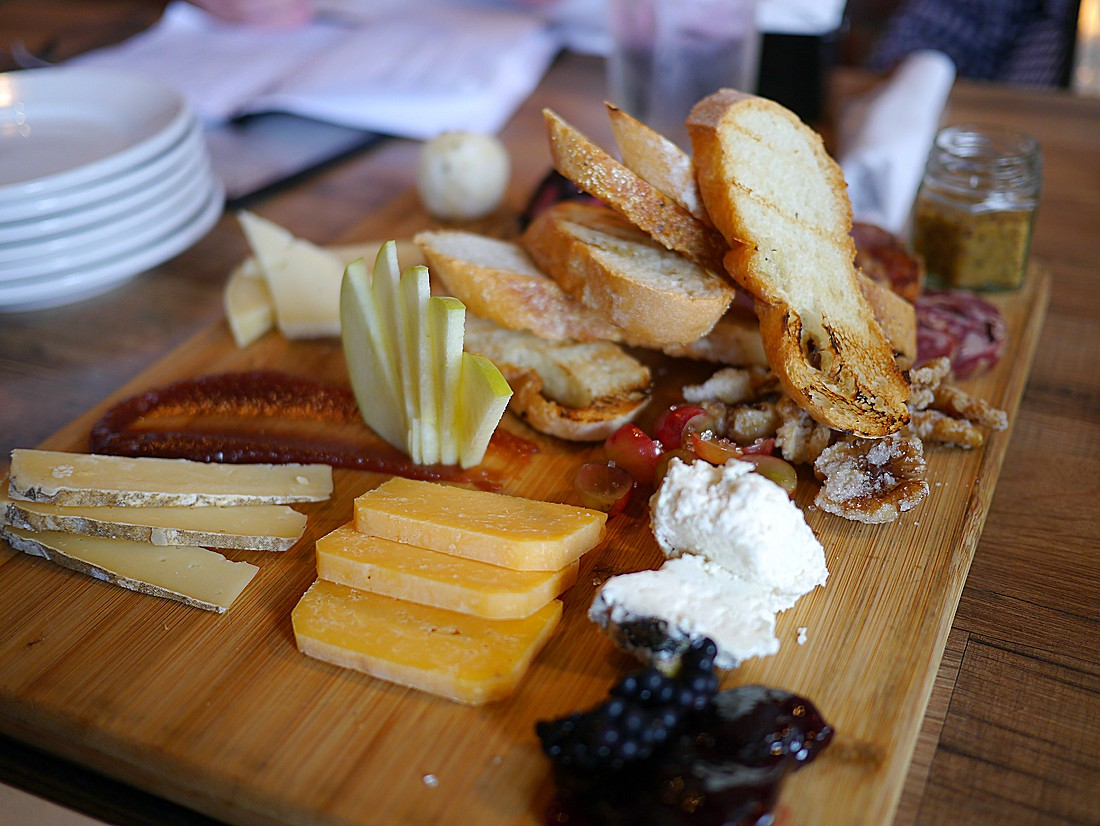 Charcuterie board at Red Yeti