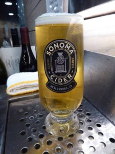 Cider glass at Sonoma Cider taproom