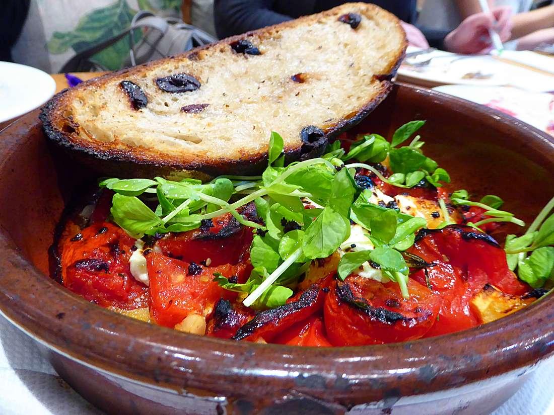 roasted San Marzano tomatoes at SHED in Healdsburg
