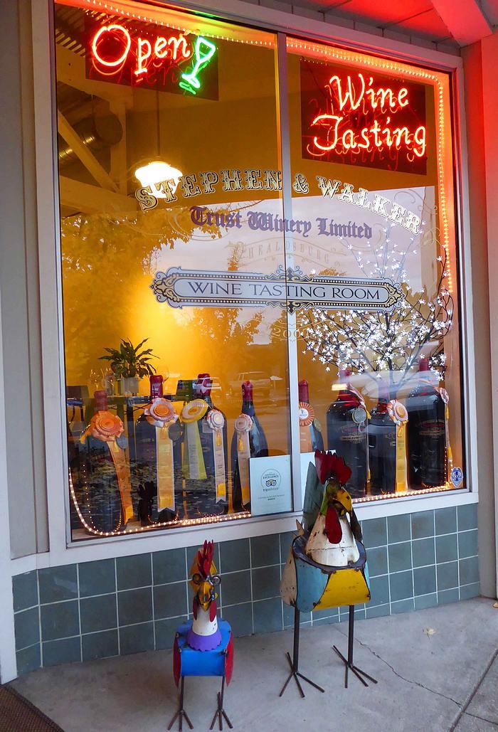 wine tasting room in Healdsburg