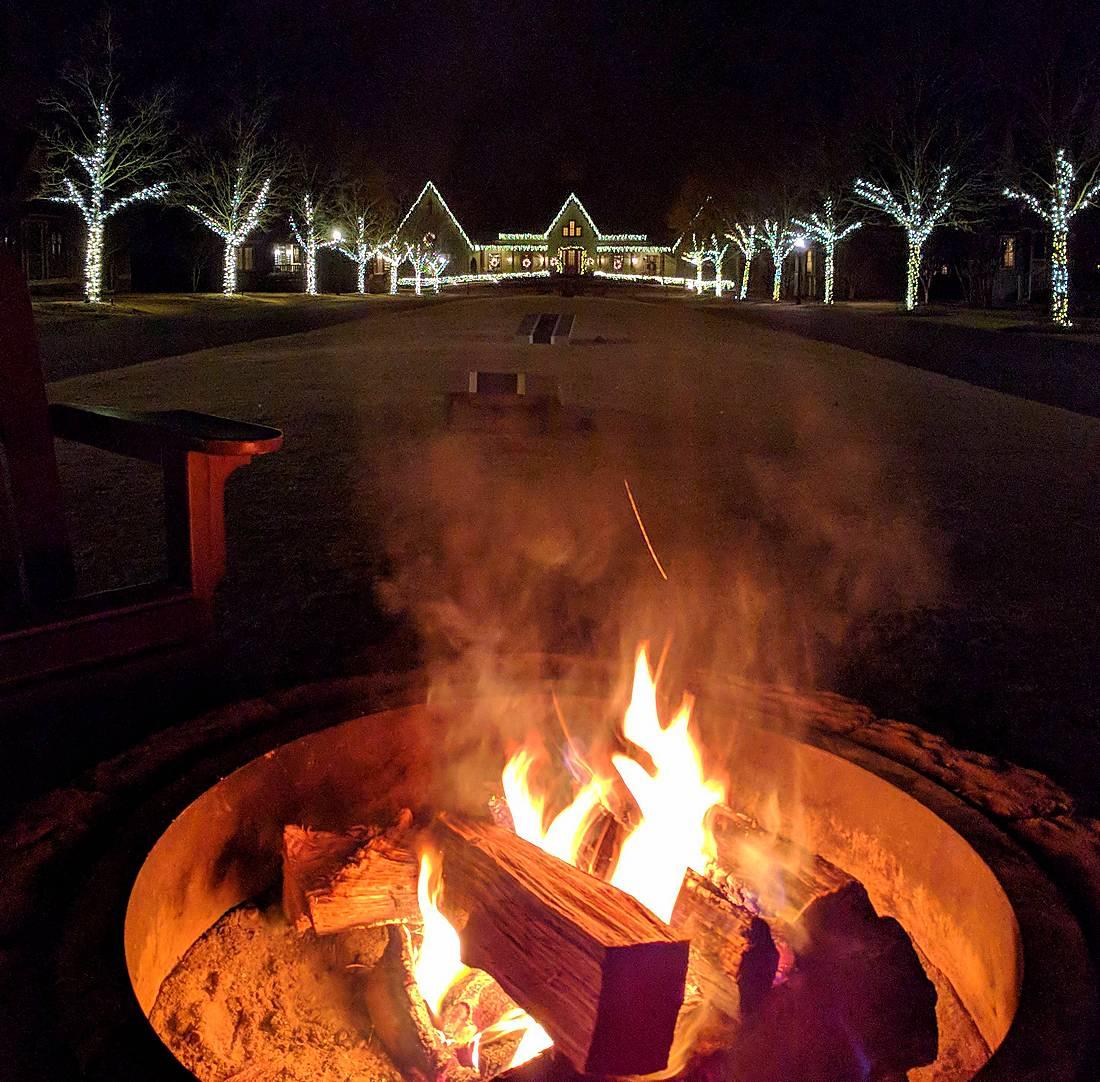 Bonfire at Barnsley