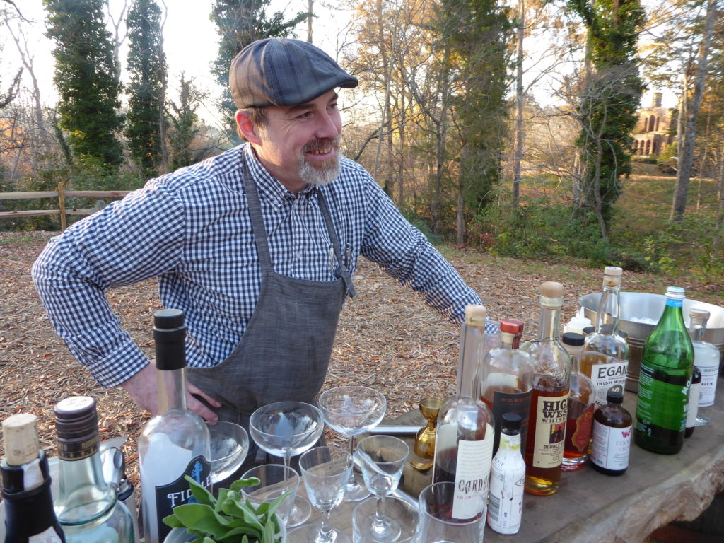 Jpn Mattson sets up cocktail bar in the woods at Barnsley Resort