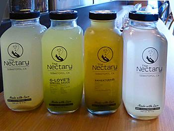 Juices at The Nectary in Healdsburg