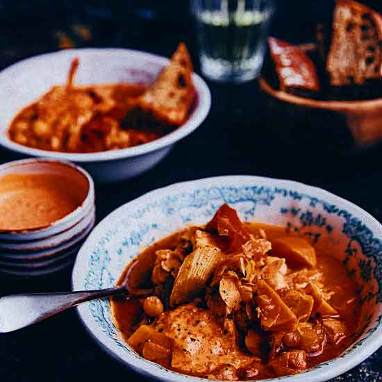 Fish free bouillabaisse photo by Nina Olsson