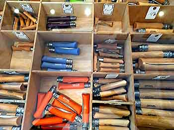 Opinel knives at Maison Empereur in Marseille