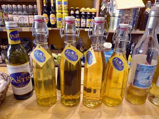bottles at Maison de Pastis