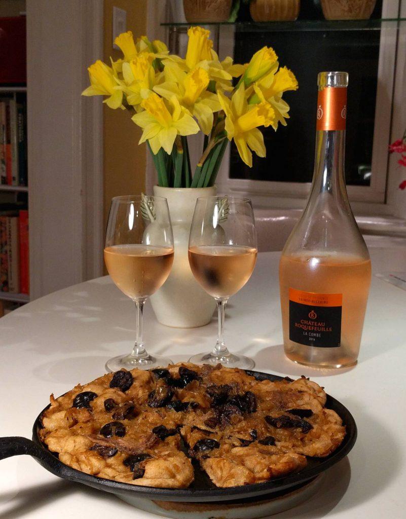 pissaladière and rosé
