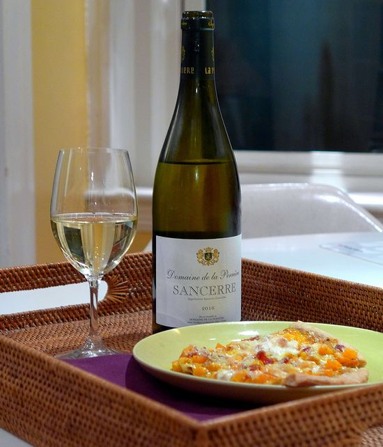 Brilliant Sancerre boosts saffron & roasted-squash pizza