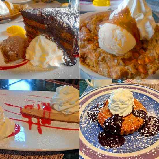 desserts at the Cottage in Plainville, Connecticut