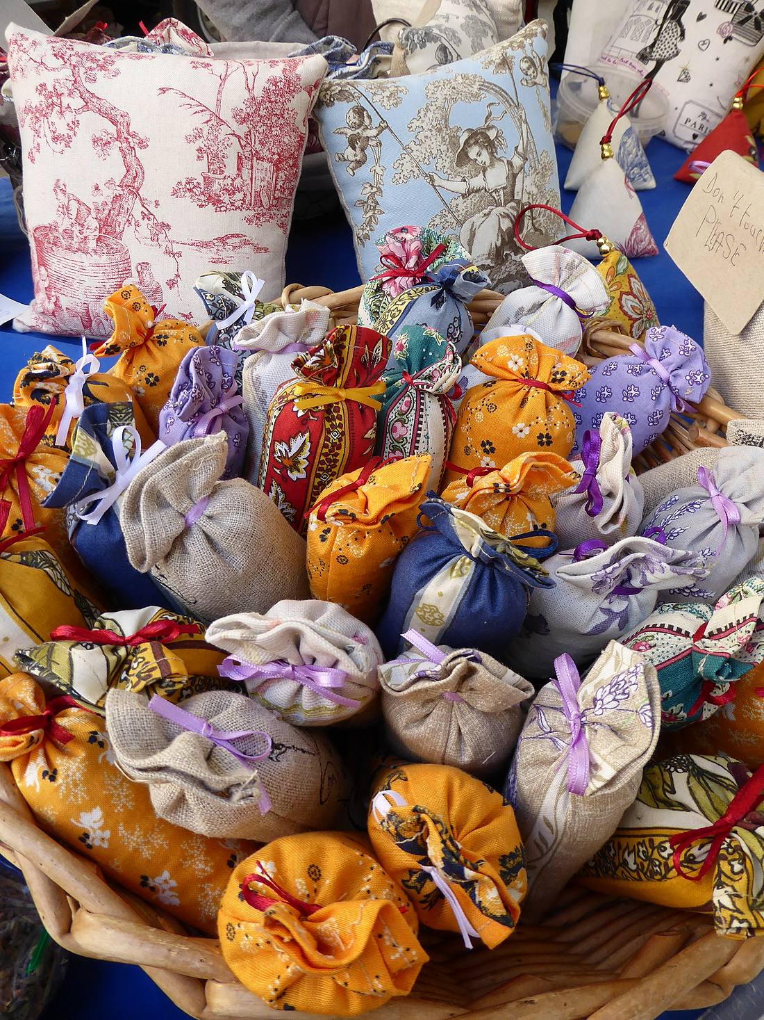 sachets of lavender at farmers' market in Aix-en-Provence