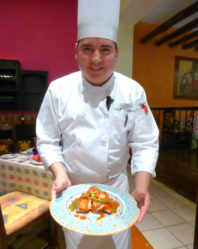 Mayan flavors: fish with achiote paste