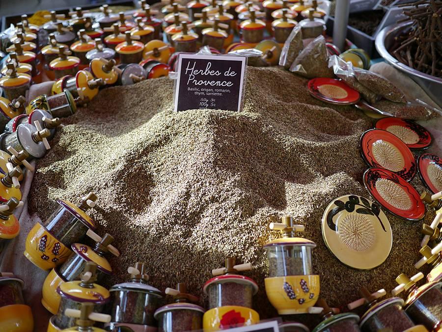 herbes de Provence at gourmet market in Aix-en-Provence