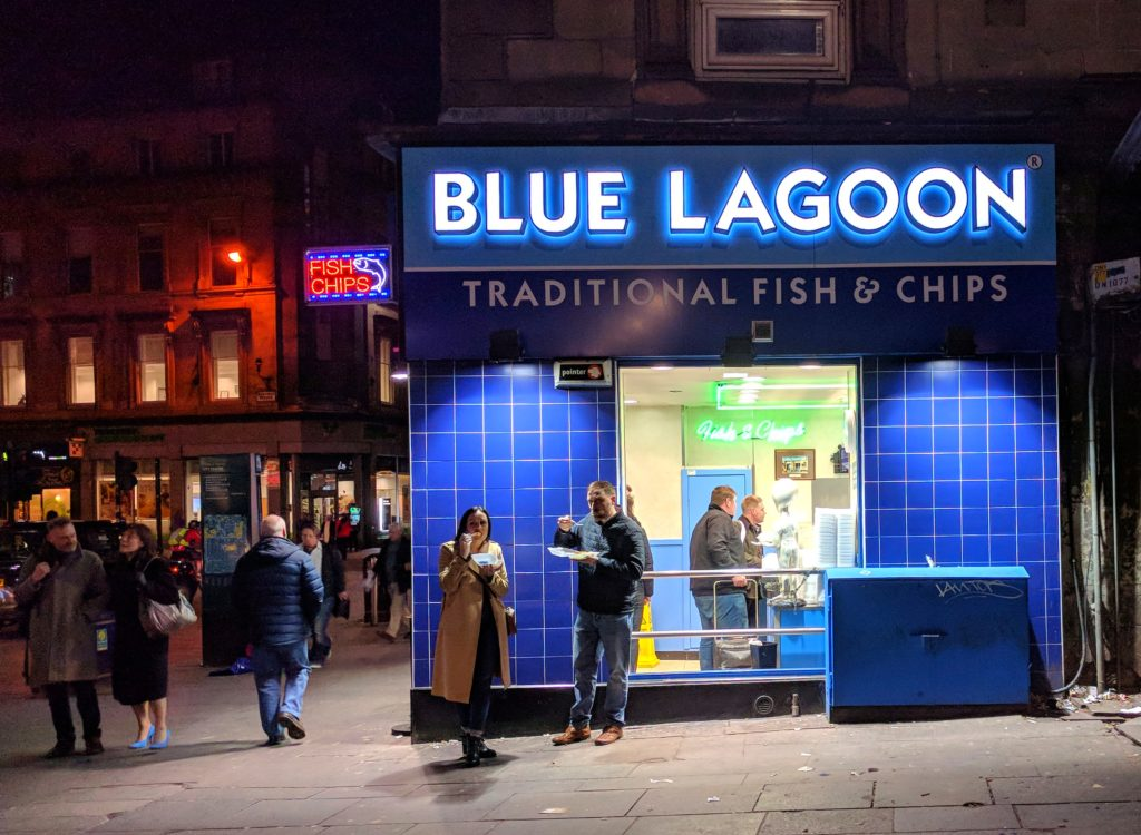 Blue Lagoon fish and chips in Edinburgh