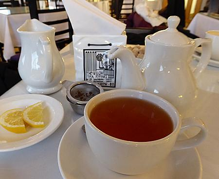 Tea service at Willow Tea Rooms at Watt Brothers in Glasgow