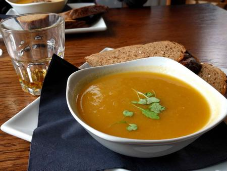 carrot leek soup at Fiddlers Arms